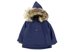 Mini A Ture winter jacket Wang Fur blue nights