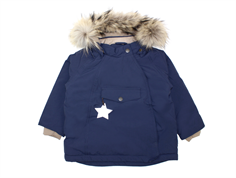 Mini A Ture winter jacket Wang Fur peacoat blue
