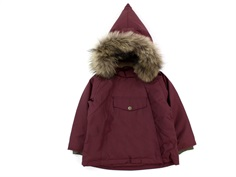Mini A Ture winter jacket Wang Fur catawba grape