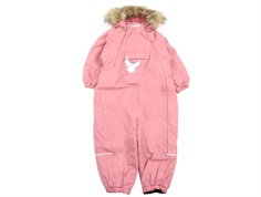 Wheat snowsuit Nickie soft peach rose solid color