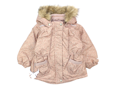 Wheat Elvira winter jacket powder leaf print