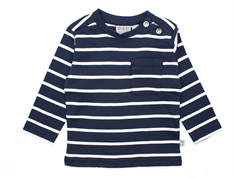 Wheat Jesper t-shirt navy stripes