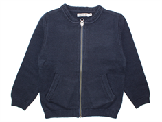 Wheat Kris cardigan navy cotton/wool