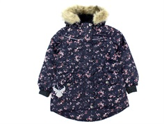 Wheat winter jacket Mathilde blue flowers