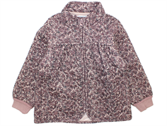 Wheat Tilde thermal jacket powder brown flowers