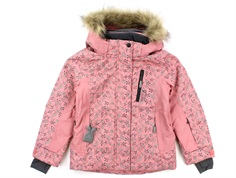 Wheat ski jacket Tomine soft peach rose flower