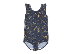 Wheat swimsuit Marie-Louise greyblue flowers