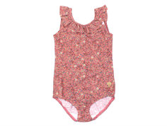 Wheat swimsuit Marie-Louise peach rose flowers