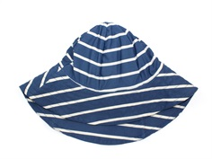 Wheat bathing hat indigo stripes
