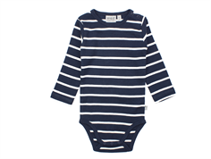Wheat body navy stripes