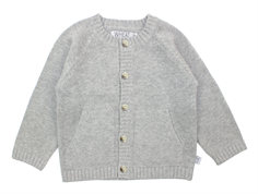 Wheat cardigan gray melange