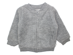 Wheat cardigan gray melange wool
