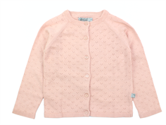 Wheat cardigan Maja pink melange cotton/wool