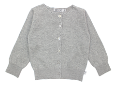 Wheat classic cardigan gray melange