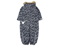 Wheat snowsuit Miley navy mountain print