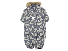 Wheat snowsuit Nickie steel flower