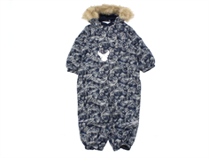 Wheat snowsuit Nickie navy mountain print