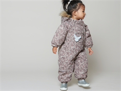 Wheat snowsuit Nickie rose flower powder