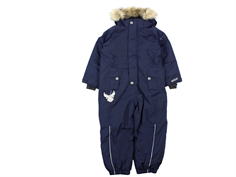 Wheat snowsuit Moe navy plain