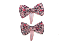 Wheat hairclip Victoria blush with bow (2-Pack)