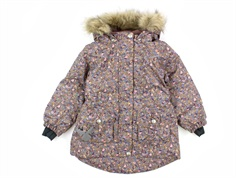 Wheat winter jacket Mathilde blue mirage flowers