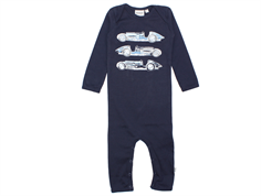 Wheat jumpsuit navy blue cars