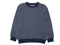 Wheat pullover Magne navy cotton/wool