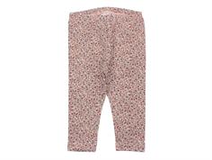 Wheat leggings misty rose flowers