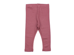 Wheat leggings rib soft plum
