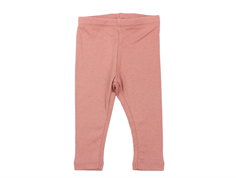 Wheat leggings rib soft rouge