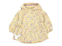 Wheat transition jacket Cornelia yellow with flowers