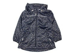 Wheat transition jacket/soft shell jacket Gilda dark blue gold dots