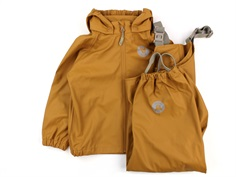 Wheat rainwear Charlie pants and jacket golden camel