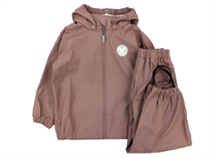 Wheat rainwear Charlie pants and jacket dusty plain rouge