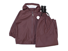 Wheat rainwear Charlie pants and jacket blackberry