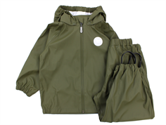Wheat rainwear Charlie pants and jacket army leaf