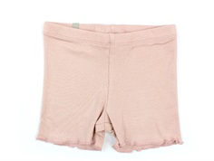 Wheat rib shorts misty rose