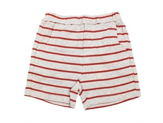 Wheat shorts Ash paprika stripes