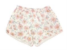 Wheat shorts Ina ivory flowers