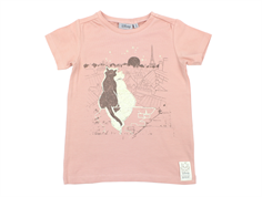 Wheat t-shirt Paris view misty rose