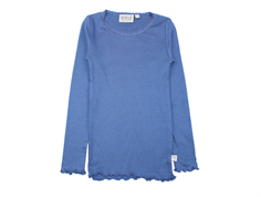 Wheat t-shirt rib blue horizon with lace