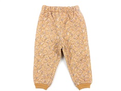 Wheat thermal trousers Alex golden flowers