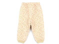 Wheat thermal trousers Alex soft beige flowers