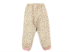 Wheat thermal trousers Alex eggshell flowers