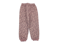 Wheat thermal trousers Alex dusty rouge flower