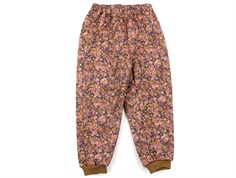 Wheat thermal trousers Alex ink flowers