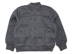 Wheat thermosjacket Manfred charcoal with fleece lining