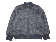 Wheat thermosjacket Manfred dark blue animal print with fleece lining