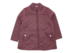 Wheat thermosjacket Millie soft eggplant with fleece lining