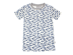 Wheat t-shirt Wagner ivory with fish